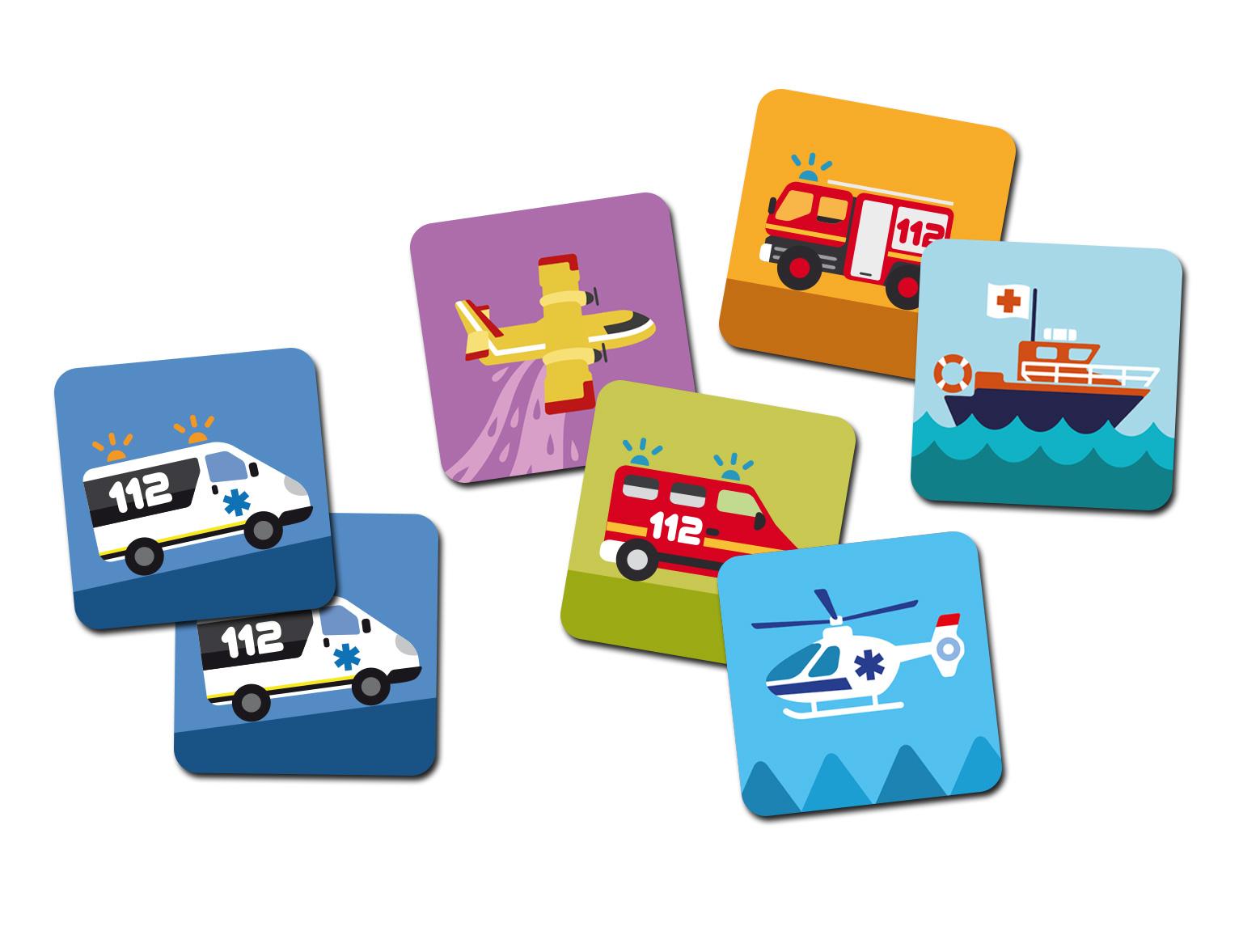 familiariser l'enfant avec les véhicules de secours